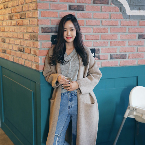 Envylook Slit Long Cardigan