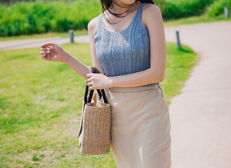 Envylook Scoop Neck Knit Sleeveless Top