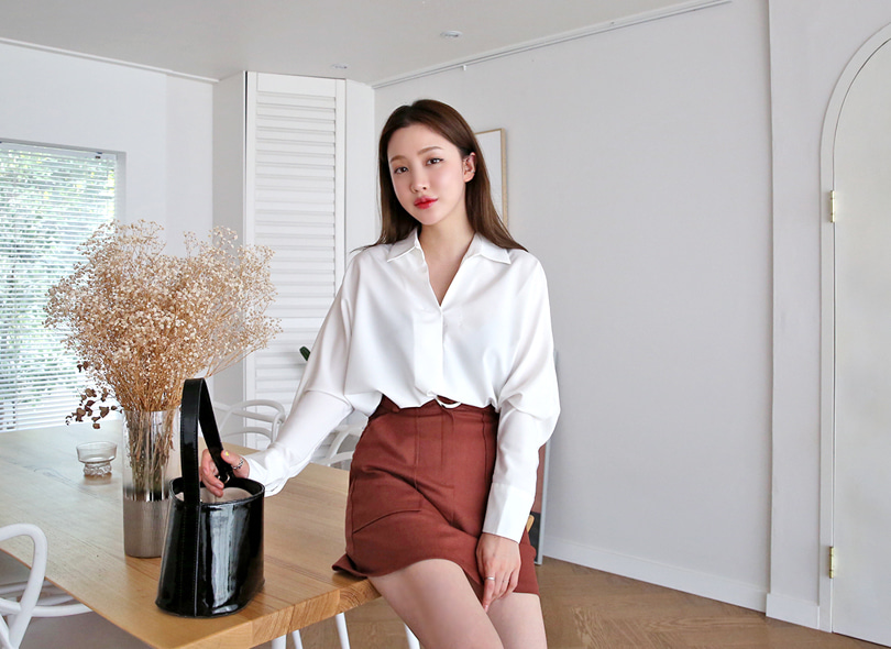 Envylook Dolman Sleeve Loose Fit Blouse
