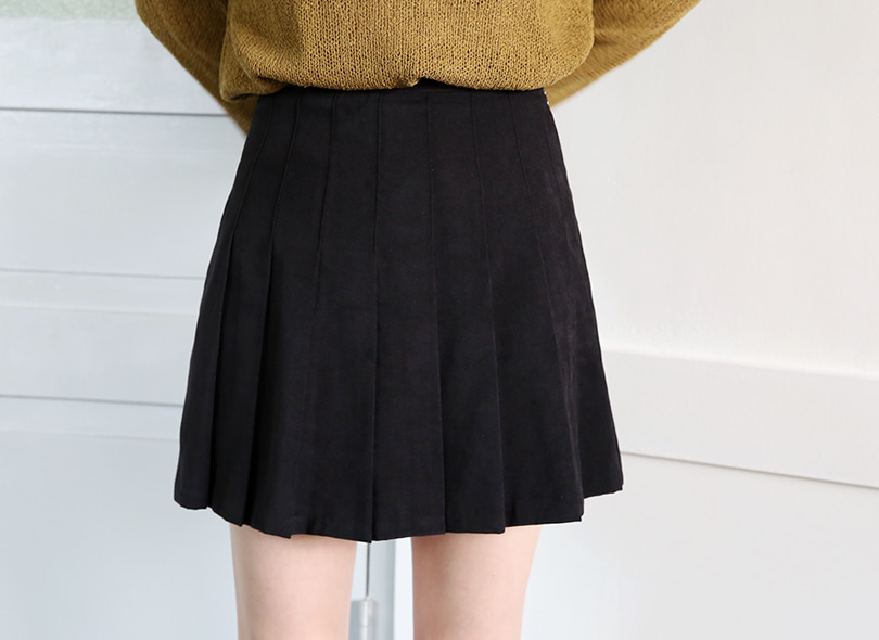 Envylook A-Line Pleated Mini Skirt