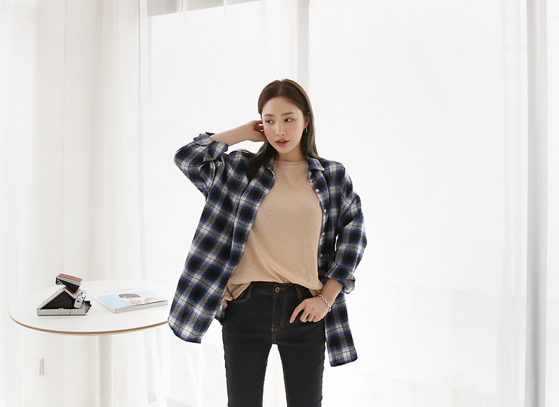 Envylook Loose Fit Check Shirt