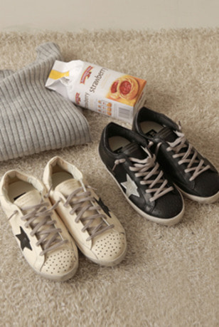 Envylook Star Detail Lace-Up Sneakers