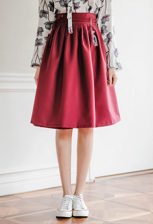 Envylook Pleated High Waist Skirt